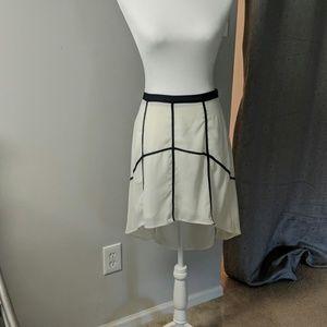 Cream and Black Hi Lil Skirt